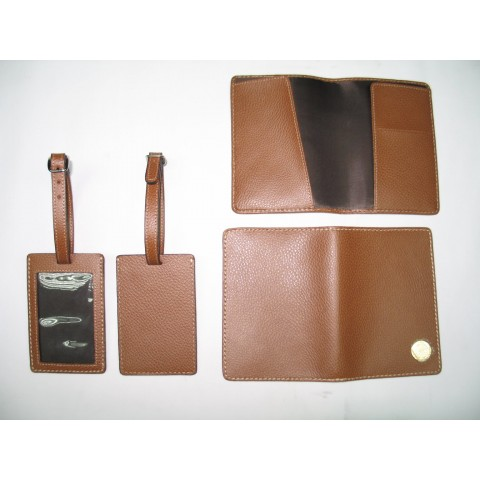 Genuine Leather Passport Holder & Tag